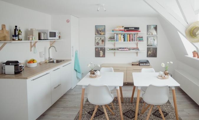 Studio De Bilt, ontijtkamer/keuken/living