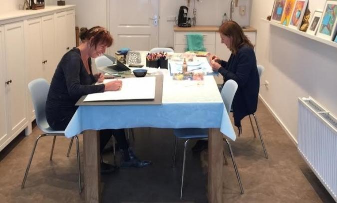 kunst lisa bloemen, atelier lisa joanna